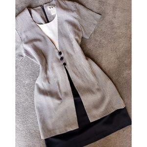 {VTG} Layered Gingham Dress
